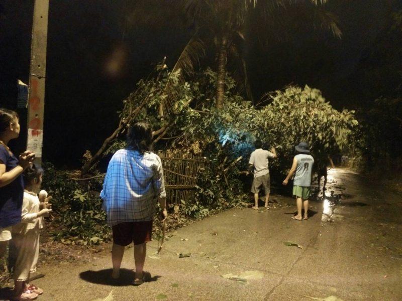 ภาพความเสียหายที่ บ.เกาะกลาง ต.ป่าแดด อ.เมือง จ.เชียงใหม่ Cr.p.narong